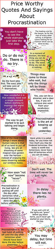 Price Worthy Quotes And Sayings About Procrastination – Quotes And Sayings