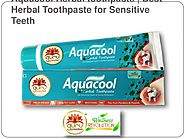 Acquacool herbal Toothpaste, best herbal toothpaste for sensitive teeth