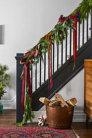 Hang Ribbons on Stairs