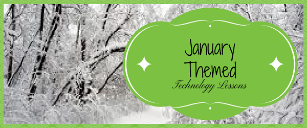 Headline for January Themed Technology Lessons