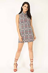 Tartan Bodycon Dress at Missi London — Perfect Addition to Fashionista's Wardrobes to Flaunt Style with Perfection