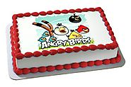 Order/Send Angry Bird Photo Cake Online - YuvaFlowers.com