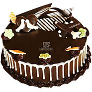 Order Dark Wonder Chocolate Cake Online Same Day Delivery - OyeGifts.com