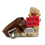 Buy Ferrero Rocher N Belt For Valentine Online Same Day Delivery - OyeGifts.com
