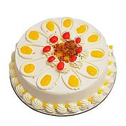 Order/Send Eggless Butterscotch Cake Online - YuvaFlowers.com