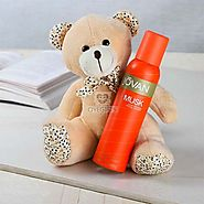 Order Jovan Musk Deo With Teddy Bear Online Same Day Delivery - OyeGifts.com