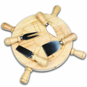 Picnic Time Mariner Cheese Board and Tool Set