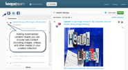 Keepstream: A tool for curating internet content