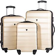 Merax Travelhouse 3 Piece Luggage Set