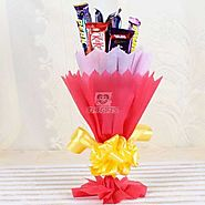 Buy / Send Assorted Chocolates Bouquet Gifts online Same Day & Midnight Delivery across India @ Best Price | OyeGifts