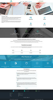Custom and unique website design and develop by FractionTech on DeviantArt
