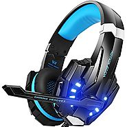 BENGOO G9000 Stereo Gaming Headset for PS4, PC, Xbox One Controller, Noise Cancelling Over Ear Headphones with Mic, L...