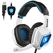 2017 New Updated SADES Spirit Wolf 7.1 Surround Stereo Sound USB Computer Gaming Headset with Microphone,Over-the-Ear...