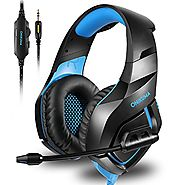ONIKUMA Stereo Gaming Headset for PS4 Xbox One, Noise Cancelling Mic Over Ears Gaming Headphones with Microphone for ...