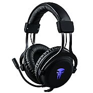 Gaming Headset with Mic,Noise Cancellation Surround Sound Over Ear Headphones with Led Light,Wired 3.5MM Jack Gaming ...