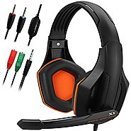 Gaming Headset,DLAND 3.5mm Wired Bass Stereo Noise Isolation Gaming Headphones with Mic for Laptop Computer, Cellphon...