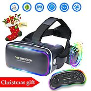 EKIR 3D VR Headset With Remote Controller,VR Goggles Virtual Reality Headset VR Glasses for 3D Video Movies Games for...