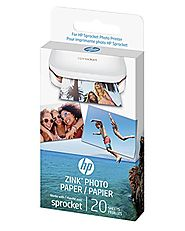 HP Sprocket Photo Paper, exclusively for HP Sprocket Portable Photo Printer, (2x3-inch), sticky-backed 20 sheets