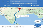 Google Map Confirms Trip of Lord Rama Can Be Completed in 21 Days From Lanka To Ayodhya