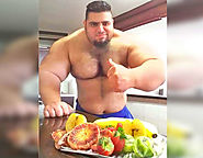 Iranion Hulk Sajad Gharibi Who Does Not Have Neck With Hulk Like Body