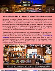 Find Cocktail Bar In Shoreditch