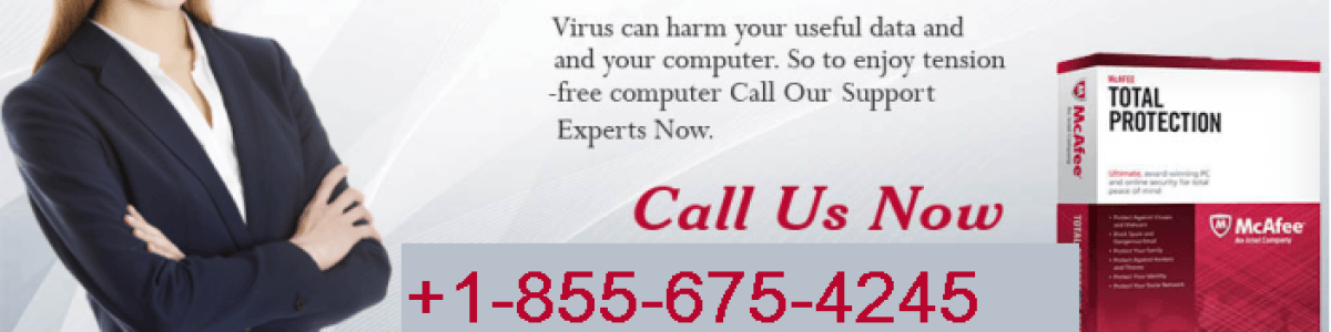 Headline for McAfee support number 1-855-675-4245 McAfee help number