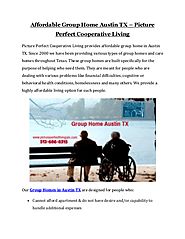 Group Home Austin TX | Picture Perfect Cooperative Living
