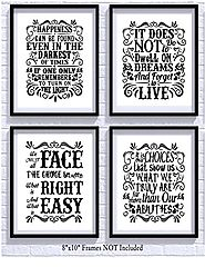 Harry Potter Quotes and Sayings Art Prints | Set of Four Photos 8x10 Unframed | Great Unique Inspirational Harry Pott...