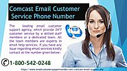 Contact Comcast email technical support number 1-800-542-0248