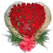Buy 150 Roses In Heart Shape Online Same Day Delivery - OyeGifts.com