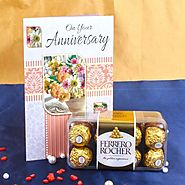 Anniversary Card with Ferrero Rocher Box