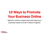 10 ways to promote your business online