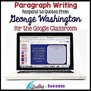 George Washington Quotes Paragraph Bell Ringer for the Google Classroom