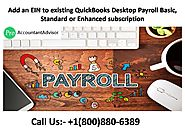 Add An EIN To Existing QuickBooks Desktop Payroll Subscription