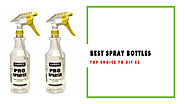 Best Spray Bottles for Multiple Use | Top Choice to DIY'er in 2018