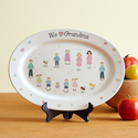 We Heart Grandma Personalized Platter