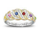 Our Family Is a Circle of Love Birthstone Ring
