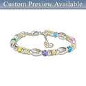 Personalized Family Birthstone Bracelet