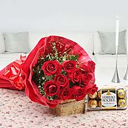 Buy/Send Roses N Chocolates Delight Online - YuvaFlowers.com