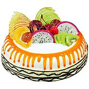 Order/Send Tropical Fruit Cake Online - YuvaFlowers.com