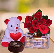 Buy/Send A Cute Gift Combo Online - YuvaFlowers.com
