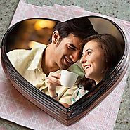 Order/Send Heart shape photo cake Online - YuvaFlowers.com