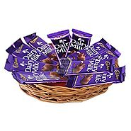 Buy Dairy Milk Basket Online Same Day Delivery - OyeGifts.com