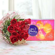 Buy Roses & Celebration Online Same Day Delivery - OyeGifts.com