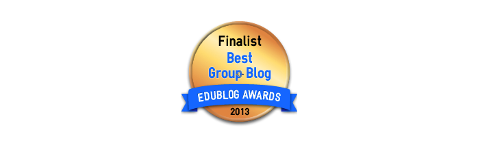 Headline for Best Group Blog 2013 - Edublog Awards