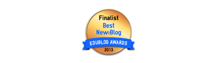 Headline for Best New Blog 2013 - Edublog Awards