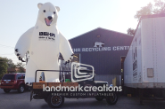 A Polar Bear in Illinois? This Custom Inflatable Mascot Causes a Stir
