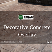 Decorative Concrete Overlay by Denali Construction Services