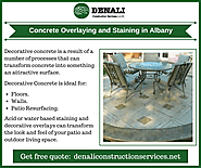 Concrete Overlaying & Staining in Albany
