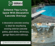 Enhance Your Living Space With Decorative Concrete Overlays